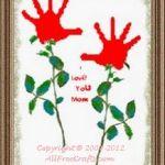 hand print heart scroll