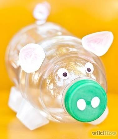 Plastic bottle piggy bank all free crafts for Plastic bottle coin bank