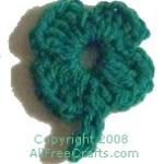 crocheted four leaf clover