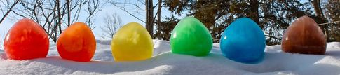 ice balloons in six colors