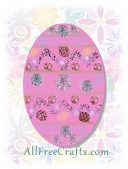 felt egg shaped pouch