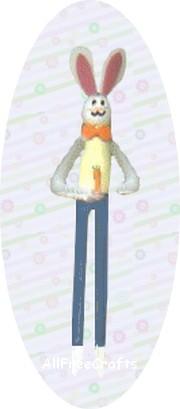 clothespin Easter bunny boy