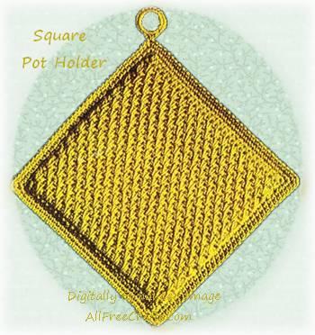 classic square potholder
