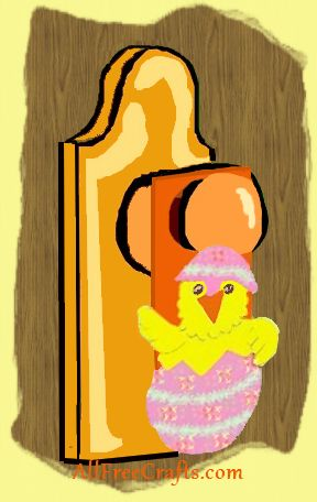Easter chick door hanger project