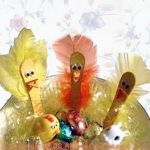 popsicle sticks Easter chicks