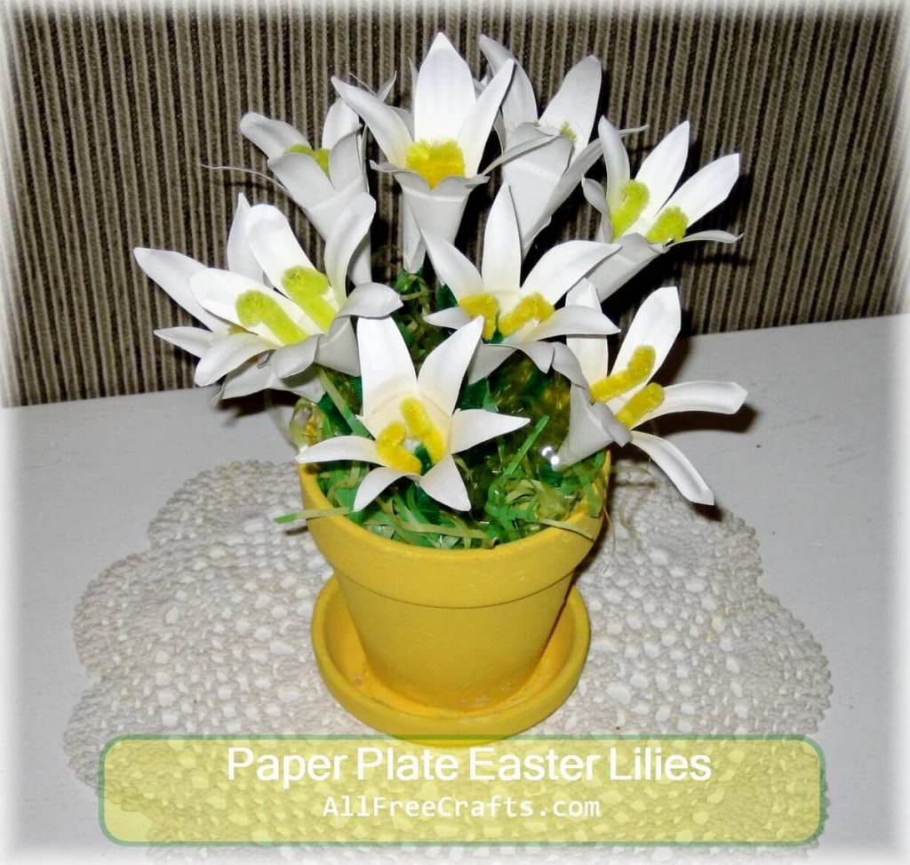 paper plate lilies