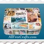 Postage Stamp Tin