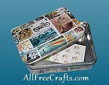 open postage stamp tin