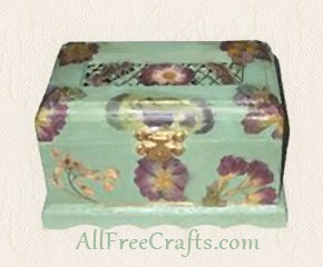 potpourri box decoupaged with flowers