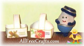 printable one egg Easter baskets