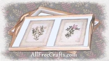decoupage serving trays with botanicals