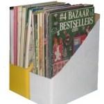 recycled cardboard box magazine holders