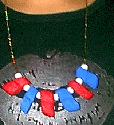 packing peanut necklace