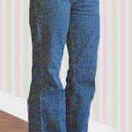 ribbon trimmed jeans