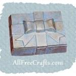 sponge painted box