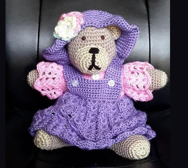 Knitting Pattern For Teddy Bear Clothes : Crochet Teddy Bear Pattern