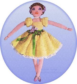 Crochet Ballerina Dolls (Görüntüler ile) | Amigurumi modelleri ... | 353x325