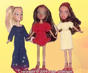 crocheted doll dresses