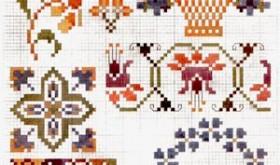 cross stitch plate