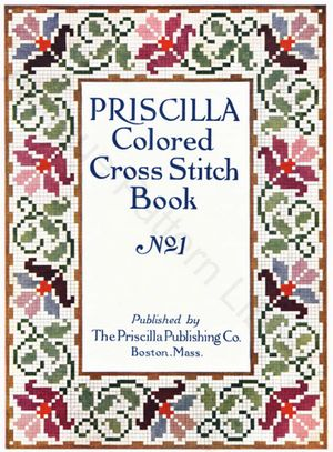 cover of Priscilla Colored Cross Stitch Book No. 1