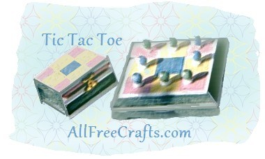 homemade wooden tic tac toe game with storage box