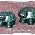 clay pot and saucer turtles