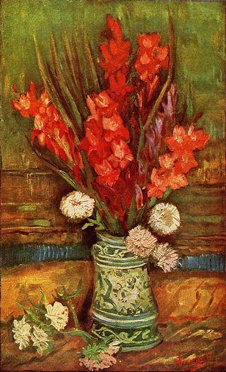 Van Gogh's Vase with Red Gladioli