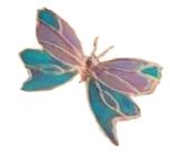 peacock bottle butterfly
