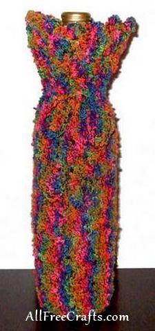 crocheted wine bottle cover