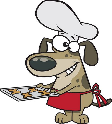 dog baking cookies cartoon