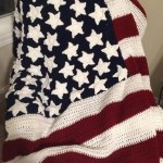 american flag afghan by Nancy Black Padgett