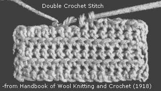 double crochet stitch detail