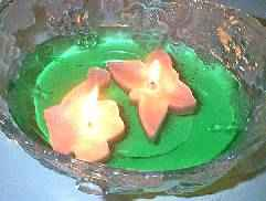 floating cookie cutter candles