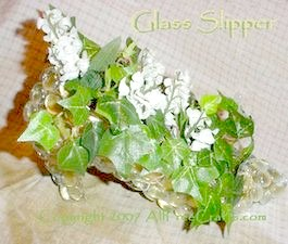 floral glass slipper