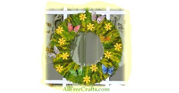 easy homemade spring wreath