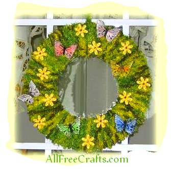 homemade spring wreath