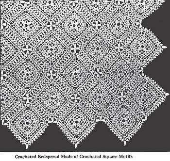 square motif bedspread