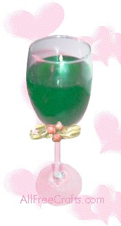 wine glass gel candle