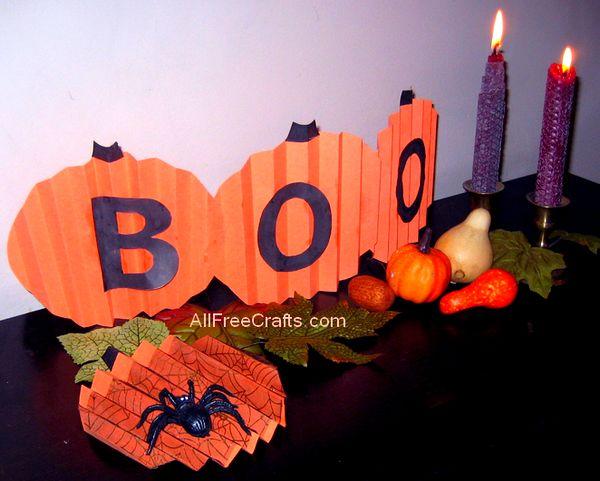 construction paper pumpkins banner