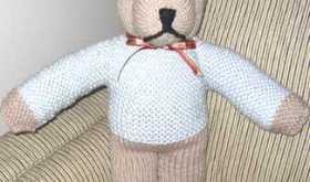 free knitted teddy bear pattern
