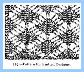 Victorian Vintage Knitted Curtains Pattern, Excerpted From Beetonu0027s Book Of  Needlework, First Published 1870.