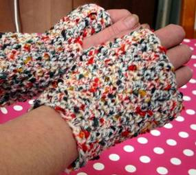 crochet fingerless mitts