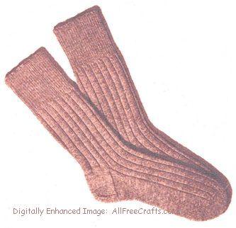 men's knitted socks