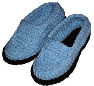 Crocheted Moccasin Slippers - Free Pattern