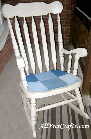 How To Sew A Denim Chair Pad