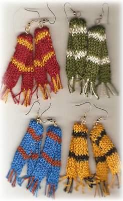 harry potter scarf earrings knitting pattern harry potter scarf earrings knitting