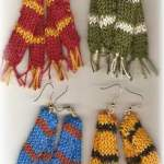 Knitted Scarf Earrings