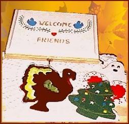 homemade seasonal welcome sign