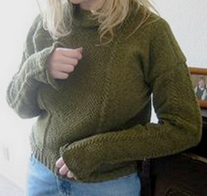 patternless knitted sweater