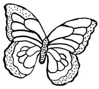 Homemade Window Clings with Butterfly Patterns